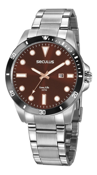 Relógio De Pulso Seculus Masculino 20789g0svna2