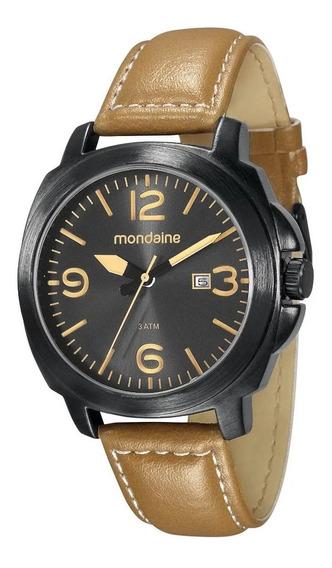 Relógio Masc. Mondaine Couro Calendário 76344gpmvph2 Vltrine