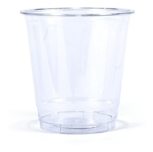 Vaso Desechable Tipo Cristal De 7oz Con Tapa, 100 Juegos