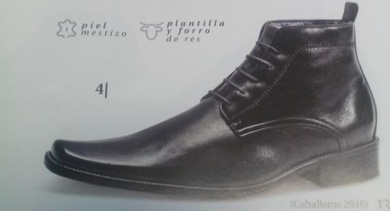 Zapato Para Caballero Con Plantilla De Res Y Suela De Cuero