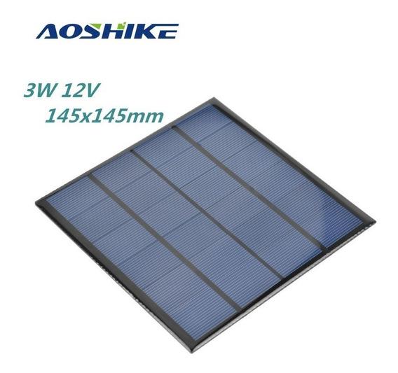 Painel Placa Energia Solar 12v 250ma 3w Célula