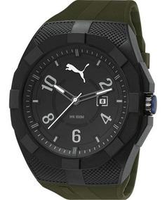 Relógio Puma Masculino 96220g0pmnp3 48mm Verde Militar