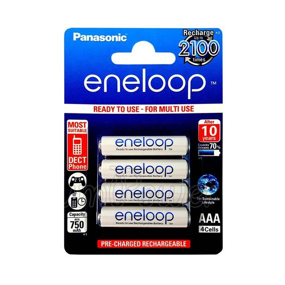 Pilhas Palito Panasonic Eneloop Aaa Recarregável 750mah C/04