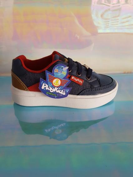 Tenis Casual Niño Moderno Azul Marino Rojo Sneakers