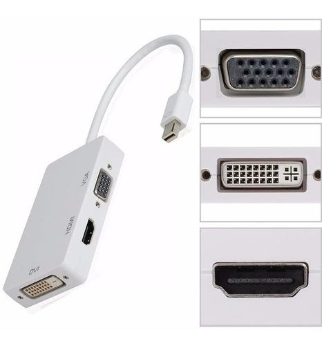 Convertidor 3 En 1 Apple Thunderbolt A Hdmi/vga/dvi