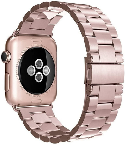 Extensible Acero Inoxidable Apple Watch 5/4/3/2/1 Rosa