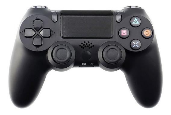 Gamepad Joystick Sem Fio Bluetooth Para Ps4 Preto