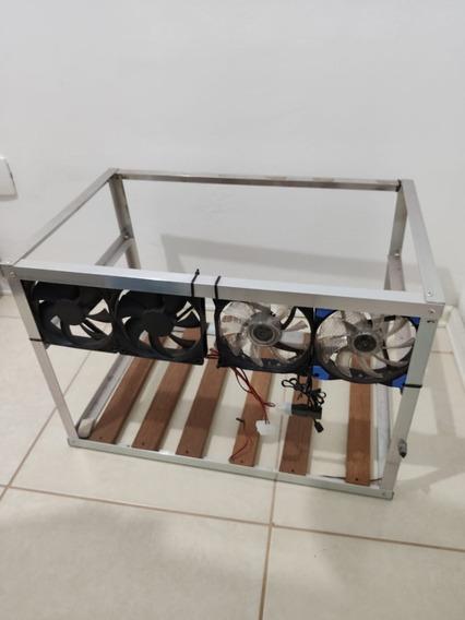 Rig Frame De Mineração Mining Ethereum/monero/etc Com Cooler