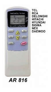 Control Remoto Aire Acondicionado Daewoo Hitachi Rca Vs Full