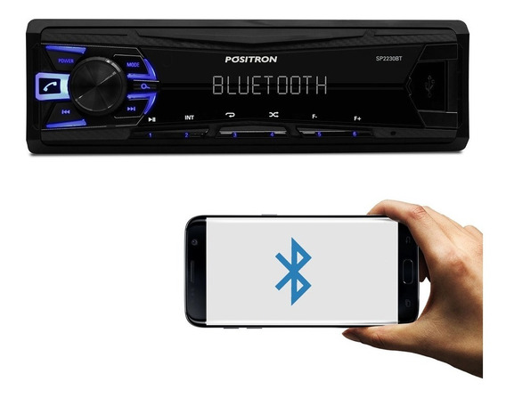 Auto Rádio Positron Sp2230bt Bluetooth Usb Fm Mp3 Player Busca Por Pastas