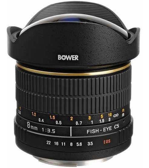 Lente Fisheye 8mm F3.5 Bower Para Canon (olho De Peixe)