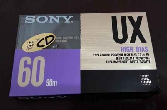 Fita K7 Cassete Sony Virgem Ux 60
