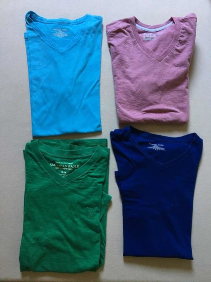 Camisetas Usadas Slim Fit American Eagle Michael Kors Etc