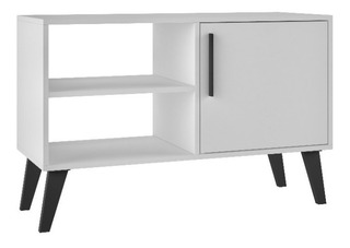 Credenza Decorativa Brv Moveis Modelo Bpp 24-205 Color Blanc
