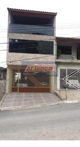Sobrado Com 5 Dormitórios À Venda, 294 M²  - Parque Continental - Guarulhos/sp - Ai18168