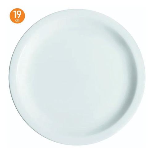 Imagem 1 de 8 de 12 Prato Sobremesa Lanche Iguaçu 19 Cm Porcelana Branca