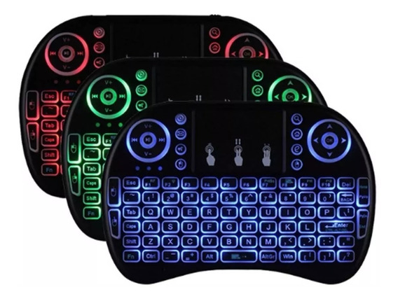 Mini Teclado Wireless Bluetooth Com Luz Pc Tv Ps3 Xbox Tv