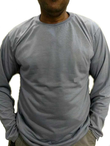 Camiseta Manga Longa Malha Fria/cores /100%poliester M/g/gg