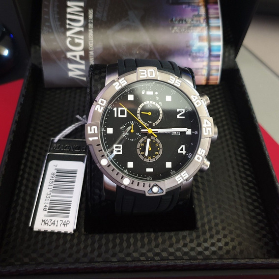 Relógio Masculino Magnum Ma34174p Cronógrafo