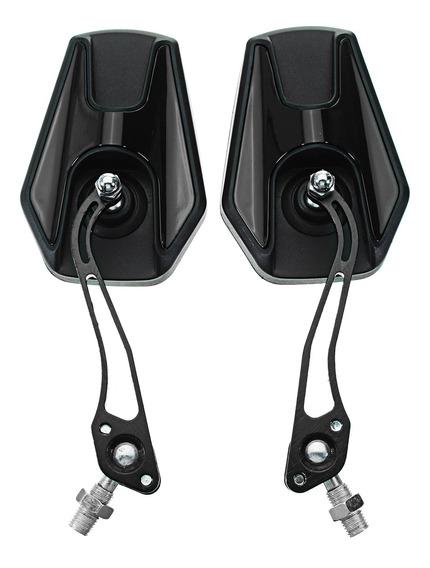 8mm 10mm Motocicleta Universal Retrovisor Lateral Espelhos L