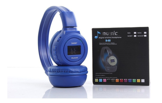 Audífonos Inalambricos Bluetooth Sd Mp3 N65bt