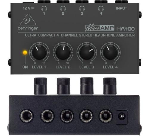 Amplificador Auriculares Behringer Ha400 Micro Amp 4ch Gtia