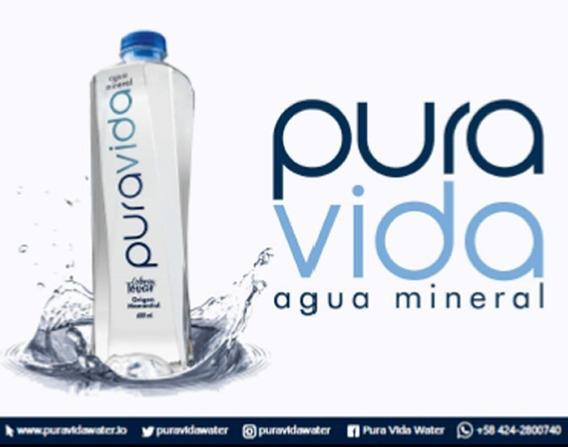 Agua Mineral Puravida 600 Ml Caja De 12 Unid