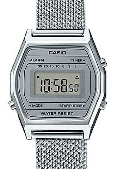 Relógio Casio Feminino Vintage Prata La690wem-7df