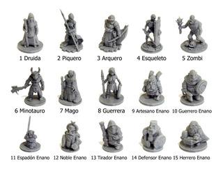 Lote Miniaturas Juegos De Rol Dungeons And Dragons(d&d,lotr)