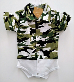 Body Infantil Baby Exército Militar Camisa Pubg
