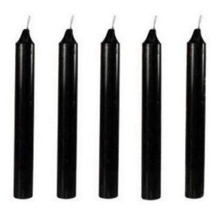 Velas Negras Paquete De 5 Piezas De 20 Cm Magia Y Brujería