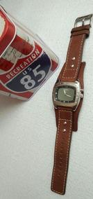 Relogio Fossil Am 3695 Masculino Bracelete Couro100%original