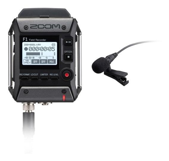 Zoom Gravador Digital F1-lp Com Microfone Lavalier