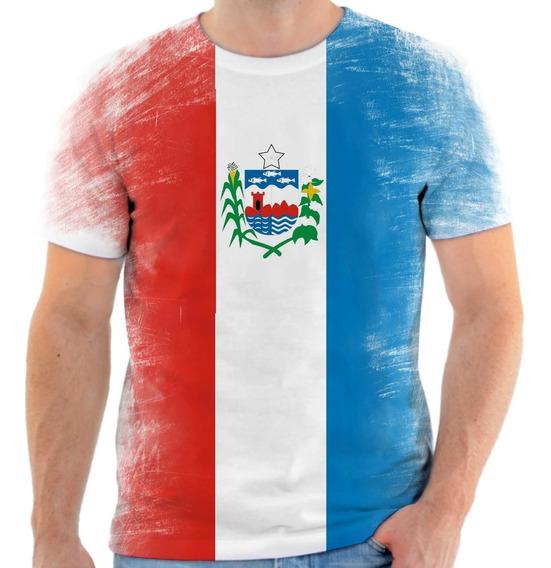 Camiseta, Camisa Amo Alagoas Bandeira Estado Do Alagoas 2.