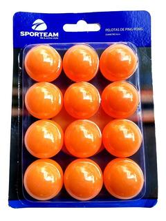 Pelotas De Ping Pong Naranja Paquete De 12 P