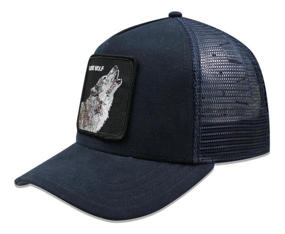 Gorra Goorin Bros Trucker Lone Wolf Azul Marino