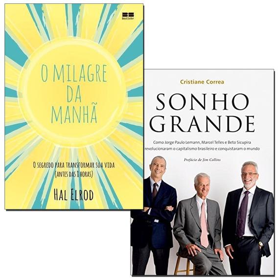 Livro O Milagre Da Manhã + Sonho Grande - Frete Gratis