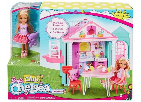Barbie Club Chelsea Com Boneca + Casinha - Mattel