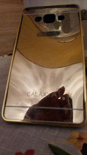 Capa Case Samsung A7 Metal Dourada Usada