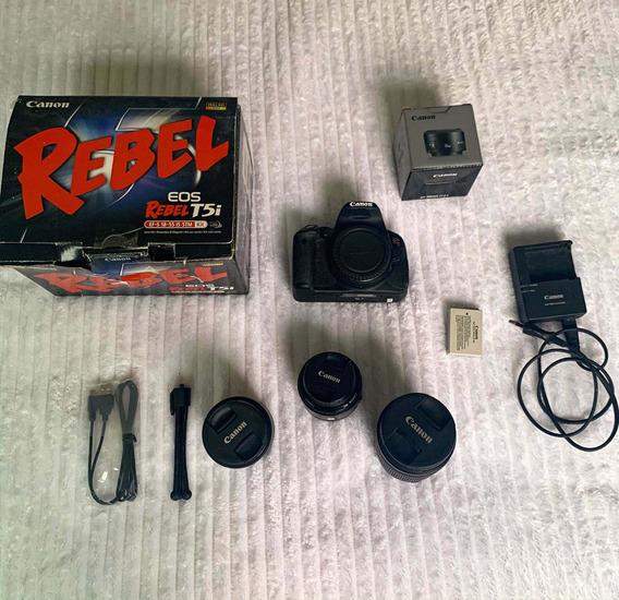 Câmera Canon T5i Kit + 3 Lentes 50mm 18-55 18-135 Stm
