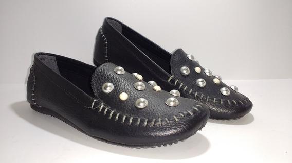 Mocasín Chatitas Ballerinas Zapatos Mujer Cuero A.1530