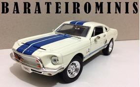 1:24 Shelby Gt-500 Kr 1968 Branco - Sunnyside Barateirominis