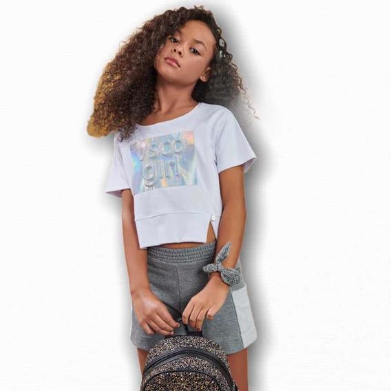 Conjunto Teen Juvenil Malha Vsco Girl Meninas Blogueira Moda
