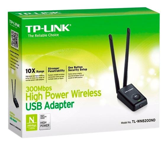 Usb Wifi De 2 Antenas 300 Mbps Tplink Mod: Wn8200nd