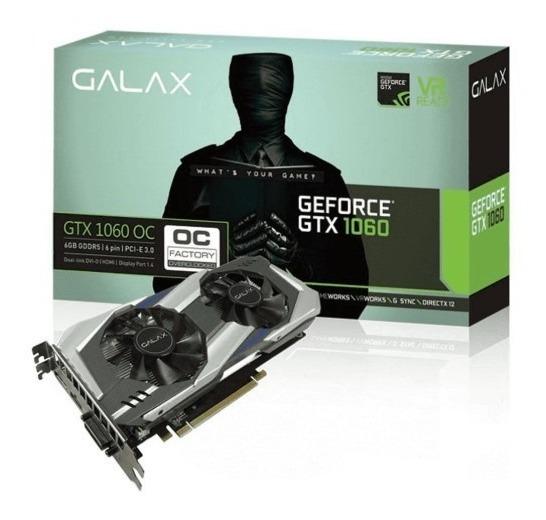 Gtx 1060 6gb Galax Gddr5 Oc 192bits Semi Nova