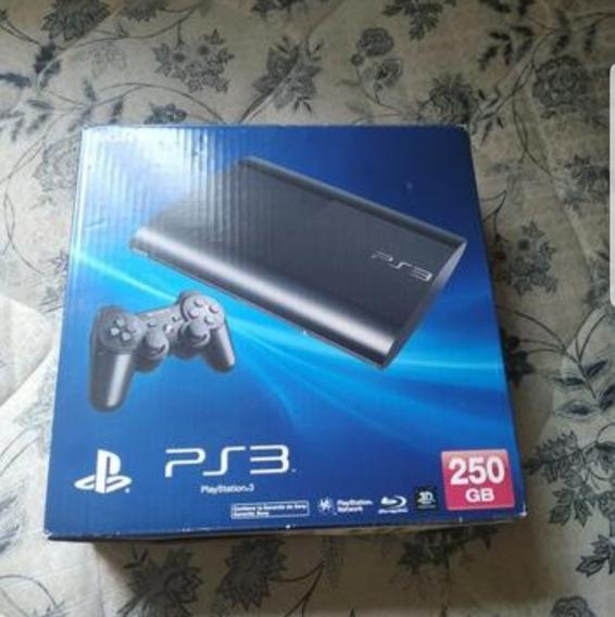 Playstation 3 Ps3 Super Slim 250gb 1 Controle 2 Jogos