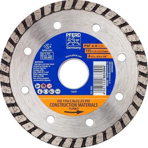 Disco Diamantado Turbo Pferd 4 1/2  X 1,9mm