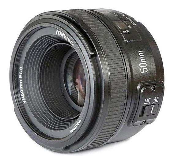 Lente Yongnuo 50mm F/1.8 Af-s Para Nikon - Temos Loja