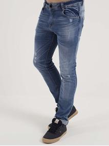 Calça Jeans Skinny Masculina Nicoboco Azul