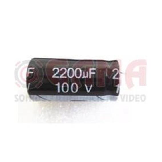 Capacitor Electrolitico 2200uf X 100v 25x40mm. E2200x100 Gen